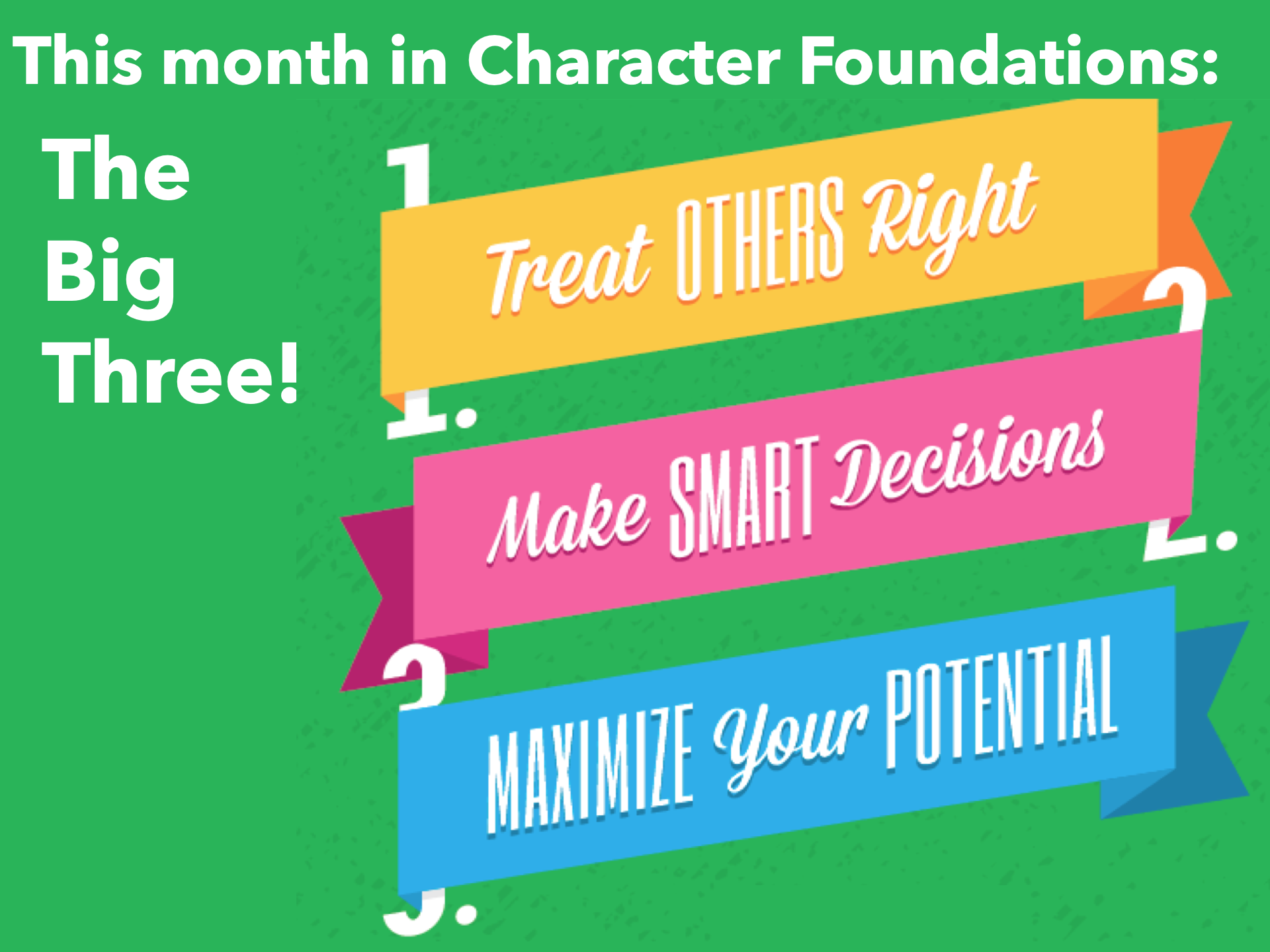 Character Foundations: The Big Three