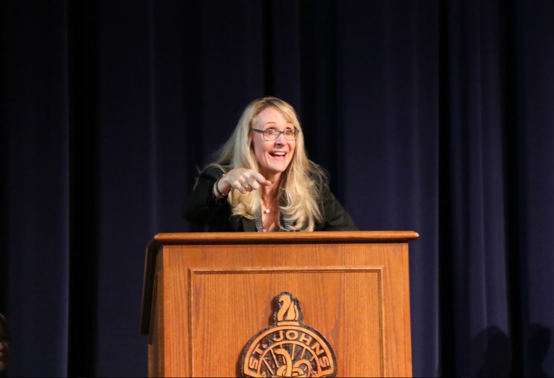 Nancy Hogshead-Makar inspired students with her address.