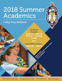 2018 Summer Academics